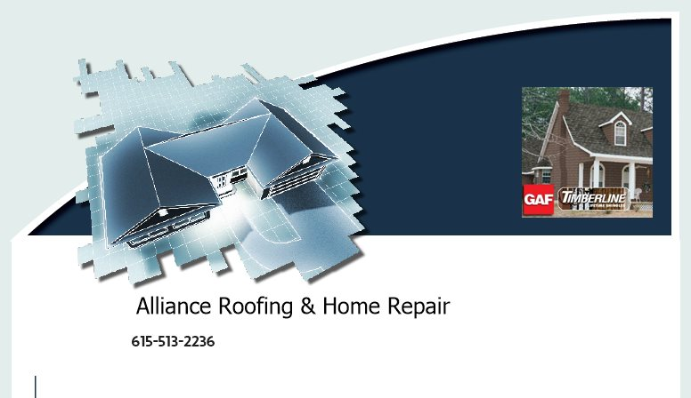 Alliance Roofing & Home Repair -  615-513-2236
